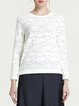 Beige Casual Jacquard Long Sleeved Top