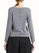 Gray Elegant Plain Knitted Wool Sweater