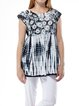 Black Resort Ombre/Tie-Dye Tunic
