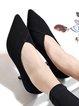 Black Kitten Heel Heels