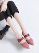 Buckle Stiletto Heel Leather  Sandals