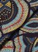 Casual Printed 3/4 Sleeve A-line V Neck Midi Dress