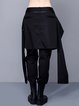 Black Plain Statement Asymmetrical Culottes Pants