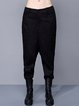 Black Casual Pockets Solid Track Pants