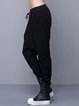 Black Pockets Plain Casual Track Pants