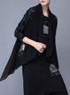 Black Sleeveless Plain Asymmetric Vests