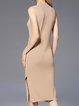 Sleeveless Net Slit Sweater Dress