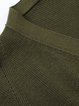 Dark Green Casual Cardigan