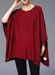 Shift Cape Sleeve Solid Poncho And Cape