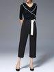 Elegant Half Sleeve Ribbed Rayon Sweater