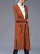 Slit Long Sleeve Cardigan