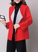 Simple Open Collar Long Sleeve H-line Coat