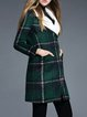 Green Shift Checkered/Plaid Casual Coat