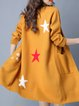 Yellow H-line Long Sleeve Knitted Coat