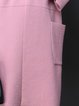 Pink Pockets Long Sleeve Knitted Coat