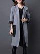 Casual Hoodie Asymmetric Long Sleeve Coat