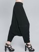 Black Casual Plain Pockets Track Pants