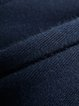 Navy Blue Knitted Casual Plain Track Pants