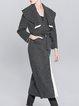 Deep Gray Casual Pockets H-line Plain Coat