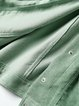 Solid Bow Long Sleeve Statement Shirt Collar Mini Dress