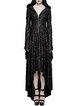 Black Statement Solid High Low Gothic Threadbare Maxi Dress