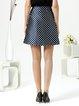 White Simple Geometric Midi Skirt