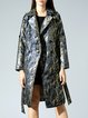 Multicolor Abstract Jacquard Long Sleeve Coat
