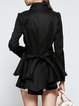 Black Long Sleeve High Low Trench Coat