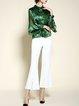 Silk Shirt Collar Casual Long Sleeve Blouse