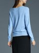 Elegant Long Sleeve Knitted Solid Sweater
