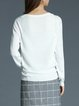 Knitted H-line Elegant Plain Ribbed Sweater