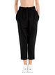 Black Viscose Plain Simple Track Pant