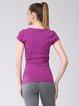 Purple Cotton Letter Stretchy Top T-shirt