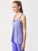 Purple Stretchy Tank Polyester Top