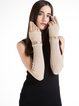 Beige Casual Plain Two Piece Gloves with Strap