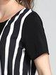 Casual Asymmetric Short Sleeve A-line Midi Dress