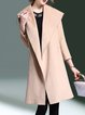 Wool Blend H-line Long Sleeve Solid Elegant Coat