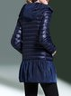 Hoodie Casual Polyester Down Coat