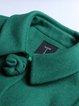 Green Long Sleeve A-line Simple Plain Coat