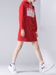 Casual Hoodie H-line Mini Dress