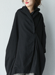 Long Sleeve Cotton Casual High Low Linen Outerwear