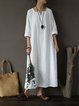 Shift Casual 3/4 Sleeve Square Neck Dress