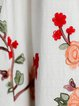 Embroidered Casual Linen Dress