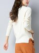 Solid Casual Long Sleeve Crew Neck Sweater