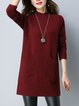 Pockets Long Sleeve Stand Collar Casual Sweater