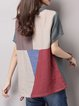 Multicolor Checkered/Plaid Shift Short Sleeve Short Sleeved Top
