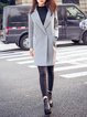 Lapel Long Sleeve Casual Buttoned Coat