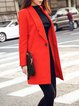 Lapel Casual Solid H-line Long Sleeve Coat