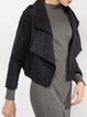 Wool Blend Long Sleeve Lapel Casual Cropped Jacket
