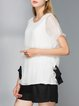 Batwing Casual Solid Tops